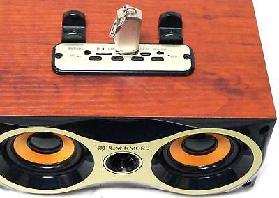 "USB//TF//FM//AUX Blackmore BRS-1102 Dual 2.5/"" Rechargeable Bluetooth Speaker"