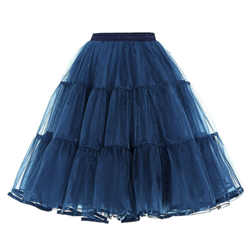 Womens Retro Dress Vintage Bridal Wedding Dress Crinoline Petticoat Underskirt