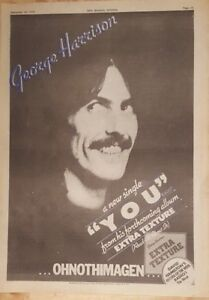 George-Harrison-You-Extra-texture-1975-press-advert-Full-page-28-x-39-cm-poster