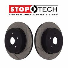 NEW Rear StopTech Slotted Brake Rotors Kit Fits Subaru Impreza WRX STI 2005-2007