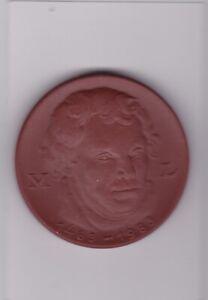 Hart Arbeitend Martin Luther 1483 - 1983 500. Geburtstag Lutherrose Porzellan Meißen