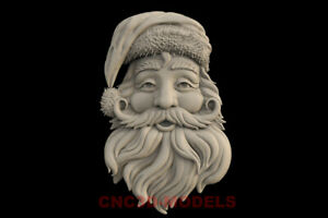 3D-Model-STL-for-CNC-Router-Artcam-Aspire-Merry-Christmas-Santa-Claus-IS606