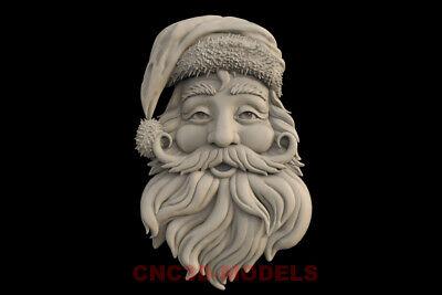 3D STL Models for CNC Router  Artcam Aspire Collection Bear Santa Claus.H32