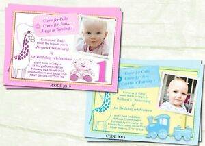Girl boy joint christening first birthday invitations cards image is loading girl amp boy joint christening amp first birthday filmwisefo