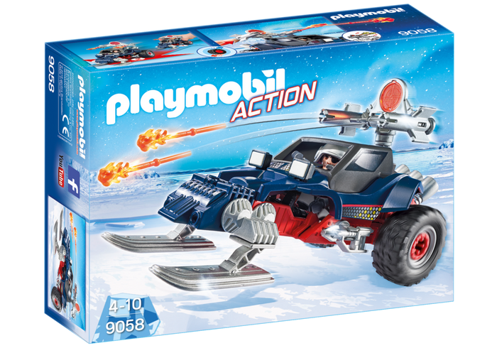 New Factory Sealed Playmobil #9058 Ice Pirate with Snowmobile