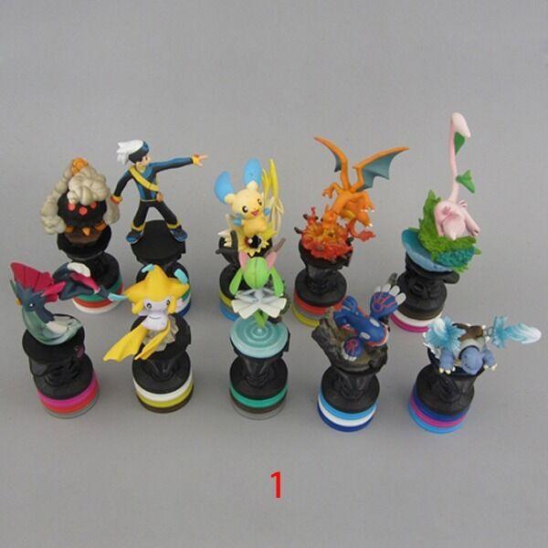 10pcs Set Pokemon Charizard Minun Blastoise Jirachi7-10cm PVC Mini Figure Toy #1