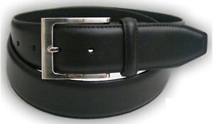 Mens Real Leather Belt Buckle Fashion Suite Trouser Waist Strap Gift Box Q5405