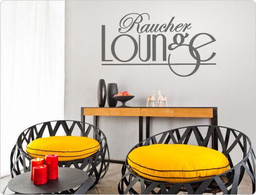 Wandtattoo Spruch  Raucher Lounge  Wohnzimmer Wanddeko Couchspruch XXL