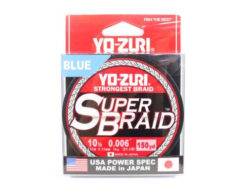 0.15mm Blue R1256-B Yo Zuri Duel P.E Linie Super Braid 150YDS 10Lbs
