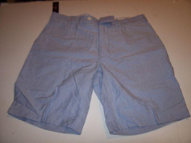 NWT $79 Polo Ralph Lauren Oxford Aqua Blue Shorts Mens 36 40 42 Flat Front NEW