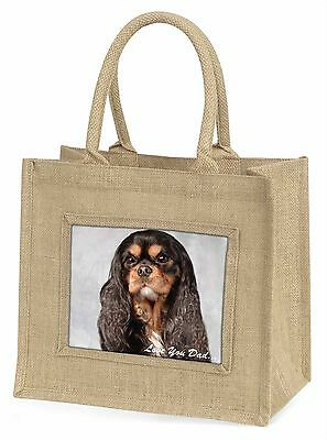 König Charles Hund' liebe Dich Papa 'Große natürliche jute-einkaufstasche Chri ,