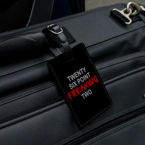 Twenty Six Point Freaking Two Marathon Rectangle Leather Luggage Card ID Tag