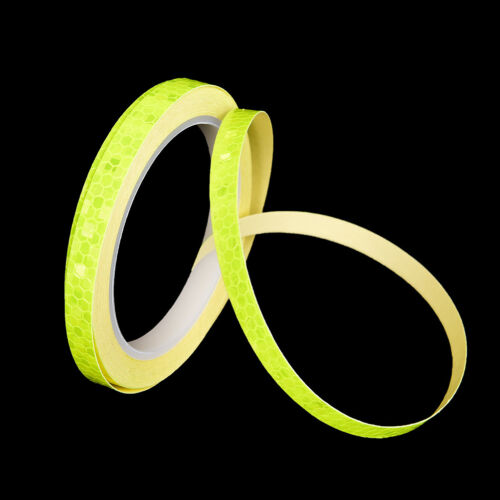 Fluorescent  Bike Bicycle Cycling Motorcycle Reflective Stickers Strips Tape MEU