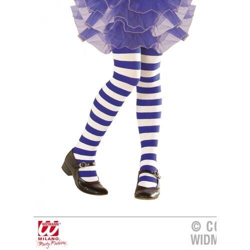 Childrens blu e bianca a righe aderente Ragazze FANCY DRESS ACCESSORIO 7-10 anni