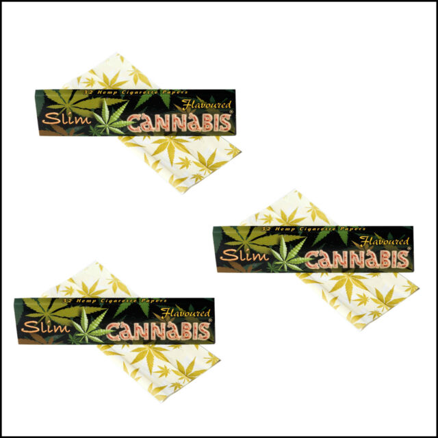 Cannabis Flavoured Slim Rolling Papers Kingsize 3,5,10, 1 Box
