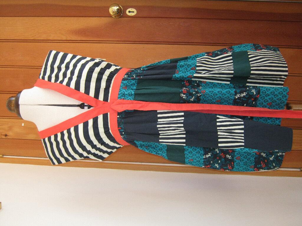 RINGSPUN HARBOUR MIST HOTCHPOTCH PATCHWORK LOOK LOOK LOOK DRESS NAVY Grün CORAL 3 12 BNWT | Hohe Qualität und Wirtschaftlichkeit  | Feinen Qualität  | Helle Farben  fa2d17