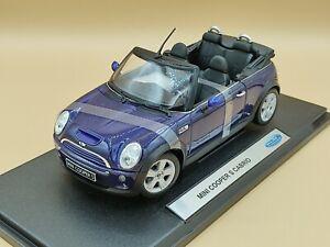 1/18 Mini Cooper S Cabrio Bleu 2003 Welly ref: 12551W