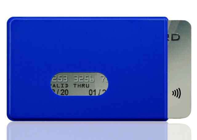 OPTEXX® 1x RFID Blocking Sleeve Fred Blue TÜV testet and certified