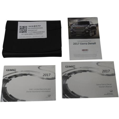 84360177 Information Package//Owner/'s Manual w//Sleeve//Case /'17 Sierra Denali U.S.