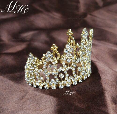 Mini Tiara Wedding Bridal Crown Headband Flower Rhinestone Crystal Prom Party