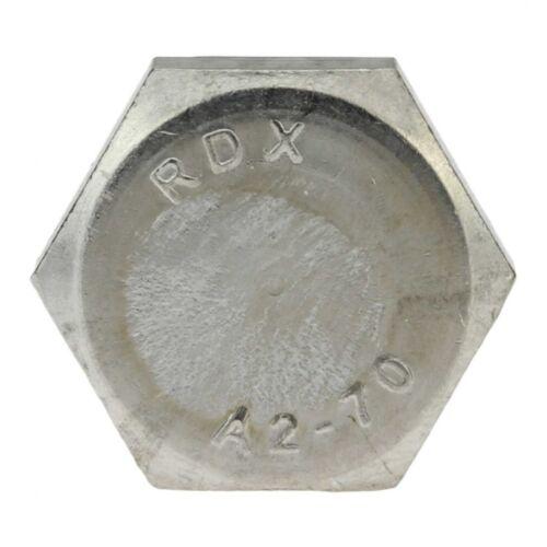 50x DIN 933 Sechskantschraube mit Gewinde bis Kopf M 8 x 10 A2 blank