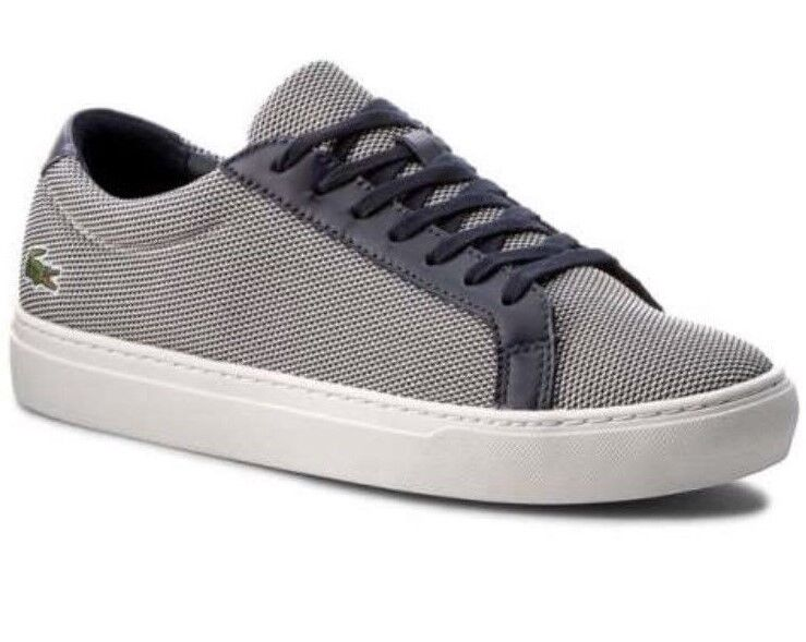 Lacoste L.12.12 217 1 Plimsoll Textile Shoes Trainers Navy New