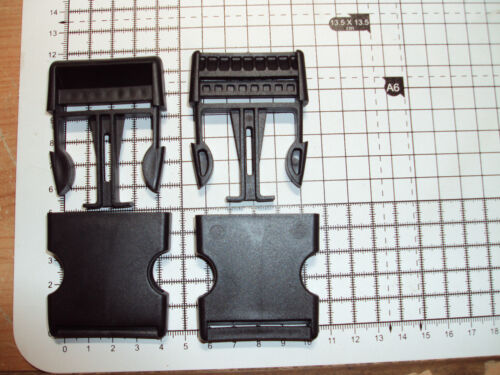 "2pcs Plastic Side Release Buckles For Webbing 40mm Bags Straps Clips  /""B/"""