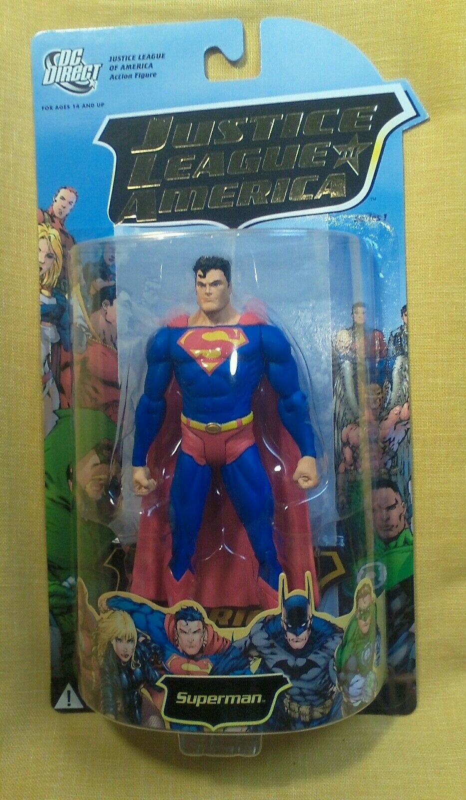 SUPERMAN JUSTICE LEAGUE OF AMERICA Action Figure DC Direct MISP SERIES 1 NRFB