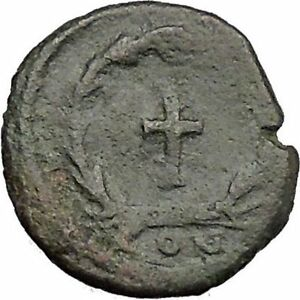 THEODOSIUS-II-425AD-Ancient-Roman-Coin-Cross-within-wreath-of-success-i32882