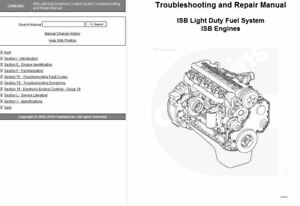Details about DODGE CUMMINS ISB Light Duty Electronic Troubleshooting  Repair Manual 3666288 CD