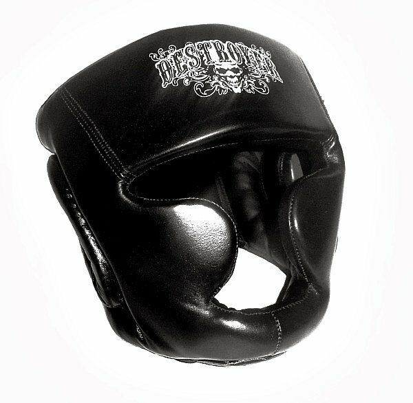 Destroyer leather premium head gear with cheeks