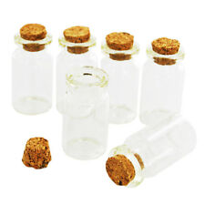 Mini Glass Jar Bottle Cork Top Craft DIY Wedding Favour Gift Jewellery Charms UK