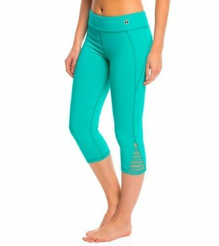 NWT  98 Trina Turk Recreation Strappy Solid Sports Capri Crop Yoga Pants Women's