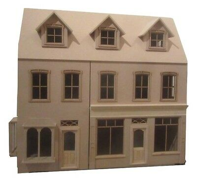 Radcliff Double Shop Victorian Dolls House in Kit 1:12 scale