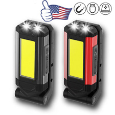 Multifunction Rechargeable Cob Led Work Light Lamp Camping Flashlight Magnetic