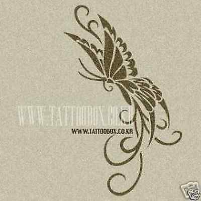 Reusable fake tattoo stencils templates  - Butterfly 4 (Medium size)