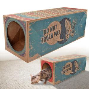 Tunnel-pour-Chat-de-Jeux-a-froissement-Carton-Pliable-Interactif-60cmx22cm-neuf