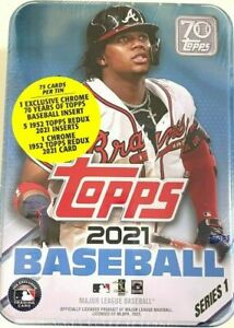 2021 Topps Series 1 Baseball FACTORY SEALED TIN (Random Player) QTY Available!