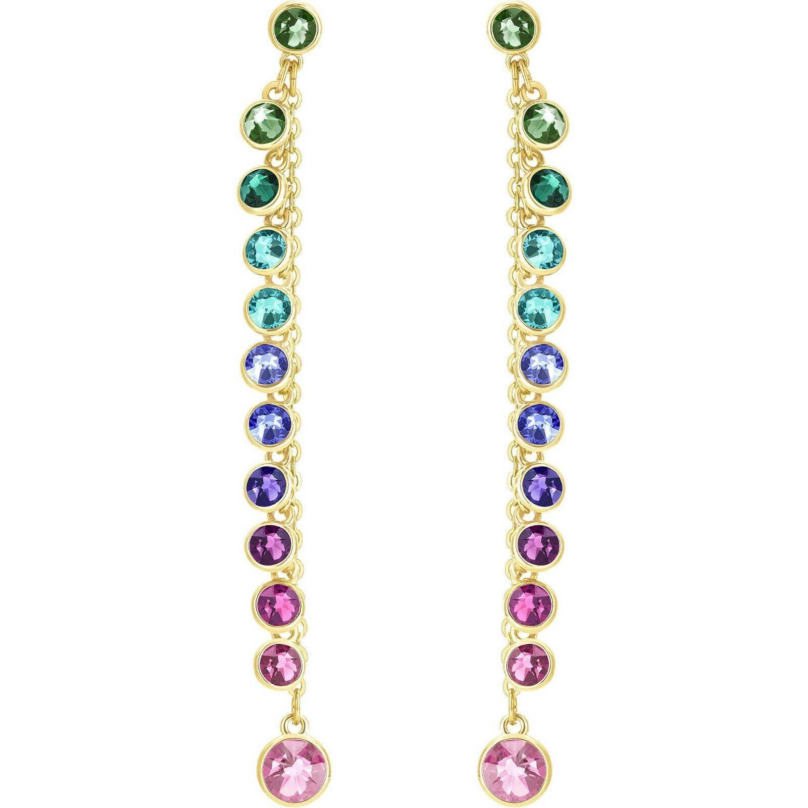 Swarovski Attract Pierced Earrings, Multi Coloured, gold Plating, 5402030