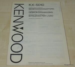 Kenwood KX-5010 Bedienungsanleitung mehrsprachig (auch in Deutsch)