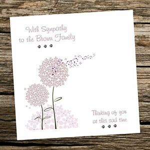 Handmade greeting card sympathy condolence can be personalised image is loading handmade greeting card sympathy condolence can be personalised m4hsunfo