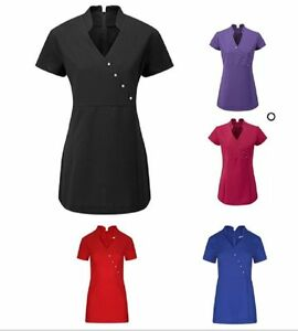 Women 39 s tunic beauty hairdressing spa therapist massage for Spa uniform ebay