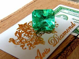 GIA-CERTIFIED-10-16CT-NATURAL-COLOMBIAN-GREEN-EMERALD-SQUARE-CUT