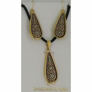 Damascene-Gold-Star-of-Redemption-Design-Earrings-Necklace-Set-by-Midas-of-Spain