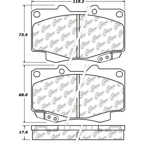 Disc Brake Pad Set-4WD Front Centric 105.04360
