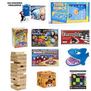Kids-Games-Snakes-amp-Ladders-Ludo-Time-Shock-Shark-Attack-Draughts-Bottle-Flip