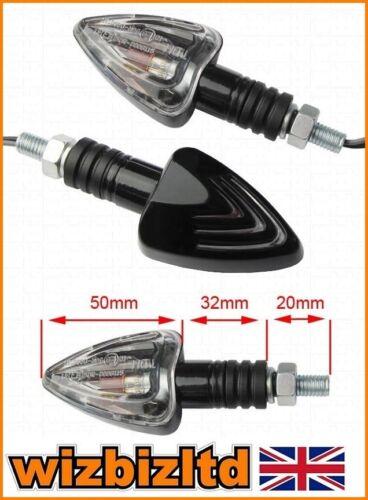 Clear Lens Motorbike Kawasaki ZX6R ZX-6R 1997-2010 Arrow Indicators INDARRBK