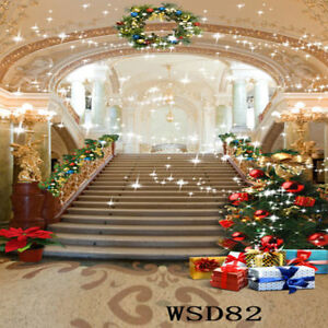 Christmas Palace.Details About Us Stock 10x10ft Vinyl Background Backdrops Christmas Palace Studio Photography