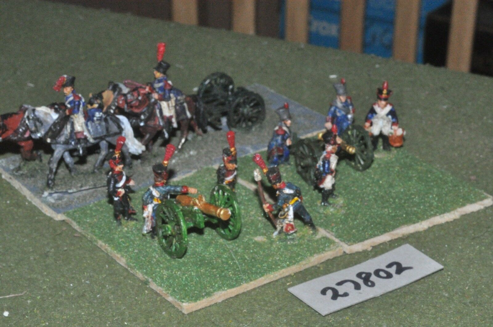 25mm napoleonic   french - 2 guns & limber - art (27802)