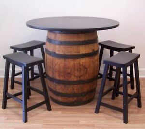 Image Is Loading Real Whiskey Barrel Table 42 034 Top